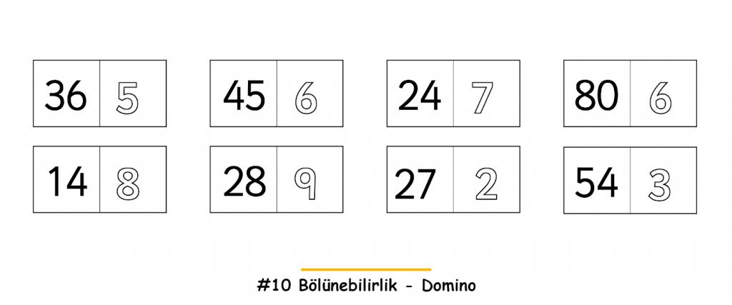 Bölünebilirlik - Domino